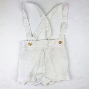 Vintage Good Lad Suspender Shorts 2T Off White